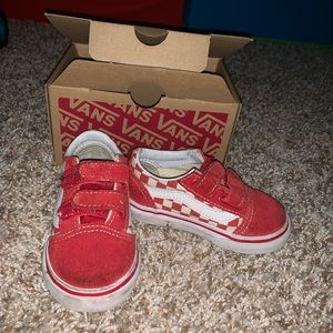 Vans (toddler) red and white checkers